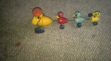 VTG Early Fisher Price Duck Pull Toy Mom & Babies Cute