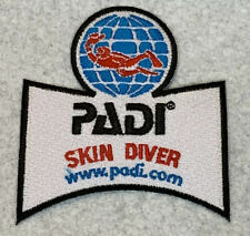 "PADI SKIN DIVER IRON ON CLOTH PATCH  2.75""X3"""