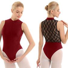 Womens Ballet Skate Tank Leotard Gymnastics Bodysuit Unitards Dance Wear Outfits