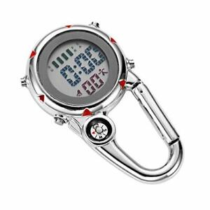 Clip Karabineruhr Mini Pocket Uhr für Outdoor-Aktivitäten Krankenschwester