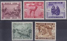 Congo Belge - 209/213 - Zoo de Léopoldville - 1939 - MNH