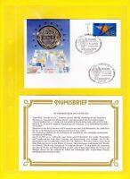 """Numisbrief BRD """"Europa ist eins"""" 1993 Fallingbostel 1 Tag der Briefmarke"""