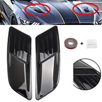 Front Hood Air Vent Molding Cover Trim For Ford Mustang 2015-2017 BLK