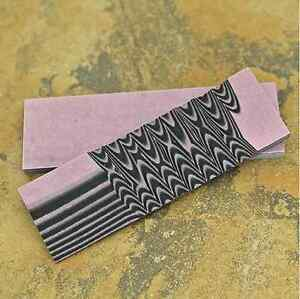 """G10: Pink/Black 3/8"""" 6"""" x 1.5"""" Scales for Wood Working, Knife Making, Bush Craft"""