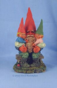 Enesco Klaus Wickl  Gnome New In Box Franz with Christoph & Katya 127205