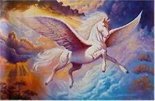 Pegasus ~ Flying In Clouds 24x36 Fantasy Art Poster New/Rolled! Horse