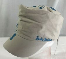 Harley Davidson Ladies Floral Painters Cadet Hat Cap Global Products NWT