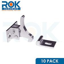 (10) Extra Heavy Duty Elbow Latch Cabinet Door / Window Catch - Nickel w/ screws