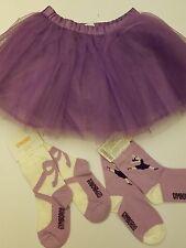 Gymboree Girls Lavender Tulle Tutu Skirt & SIZE 2T Matching Socks Retail $35