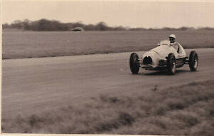 SIMCA-GORDINI DRIVER BIRA  DAILY EXPRESS TROPHY MEETING SILVERSTONE MAY1952PHOTO