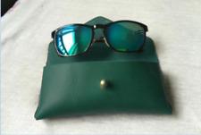 men women Eyeglass Cases sunglasses bag holder cow Leather Customize green z325