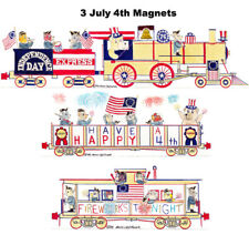 Independence Day Express Locomotive, Gondola & Caboose 3 magnets Andy Fletcher