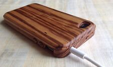 iWooden iPhone 4/4s Zebra Wood Case Thinnest Wood Cover✔️Wood Buttons✔️
