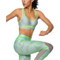 Under Armour Women's Warp Knit High Impact Bra, Black, Green, Size 38DD R66l