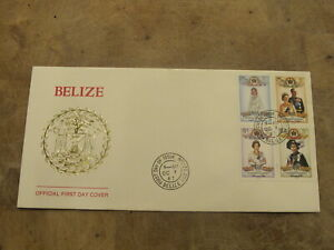 1987 Belize FDC / Cover - Royal Wedding Anniversary, Queen & Prince Phillip