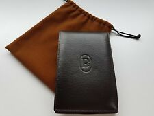 Parmigiani Fleurier Brown Leather Refillable Vertical Notepad Wallet