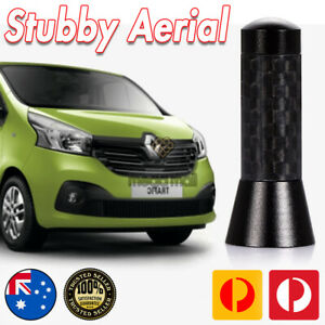 Antenna / Aerial Stubby Bee Sting for Renault Trafic & Master Vans Black Carbon
