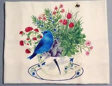 New Alice's Cottage Winter Blue Bunting Bird Kitchen Flour Sack Towel
