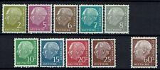 Dik in orde - - - 3190.BRD 1959. Mi.Nr.177,179-186 en 190. Postfris