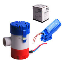 12V 1100GPH Marine Boat Submersible Bilge Water Pump Non-Automatic Float Switch