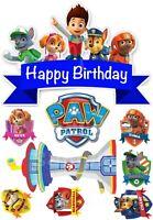 Paw Patrol Eßbar Tortenaufleger Party Deko Tortenbild Muffin Geburtstag Neu Hund