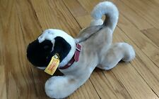 STEIFF PUG DOG PLUSH AKC AMERICAN KENNEL CLUB COLLAR DOLL DOGGY PUPPY CUTE TOY