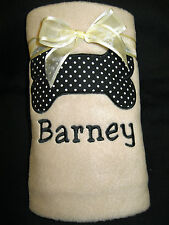 Personalised Embroidered Pet Dog Puppy  Fleece Blanket with Pet's Name