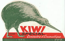 Buvard Vintage  Kiwi  le Cirage de Luxe  Spécial Concentré d' Encaustique