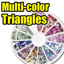 Acrylic Triangle Nail Art Decal Rhinestones FREE GLUE