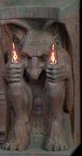 Twin Flame Gargoyle Wall Lamp - Gothic Lighting Decoration & Halloween Prop