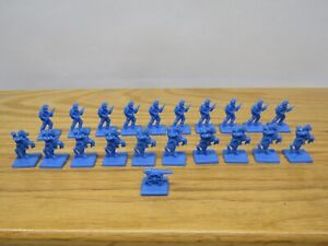 VTG AMERICAN HERITAGE BATTLE CRY BOARD GAME ~ Replacement Pieces BLUE ~ 1961