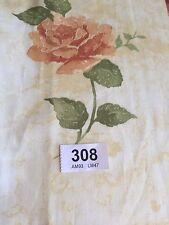 Curtain Sample Vintage Fabric Blind Cushion Craft 60c92cm Cream Terracotta Rose