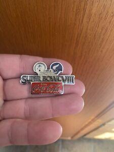 super bowl VIII 8 pin vikings dolphins coca cola