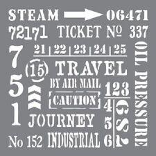 "Andy Skinner industriale elementi Stencil 8""x8"" DECOART sentimenti Steampunk Arte"