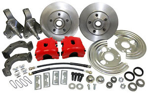1962 - 74 MOPAR  PLYMOUTH  DODGE FRONT DISC BRAKE CONVERSION - RED CALIPER