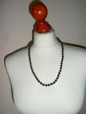 Designer Collier ~ Kette Halskette ~ schwarz Hämatit Perlenkette