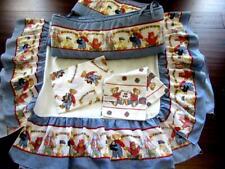 Blue Jean Teddy Bear Baby Crib Bumper Pad-Skirt-Sheet-Blanket Nursery Bedding