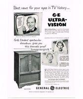1953 GE General Electric Television Cabinet Bing Crosby Joan Davis Vtg Print Ad