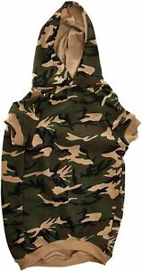 Casual Canine Camo Dog Hoodie XL Green Perfect For Winter & Fall!