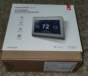 Honeywell RTH9585WF Smart Wi-Fi 7-Day Programmable Color Touch Thermostat   New!