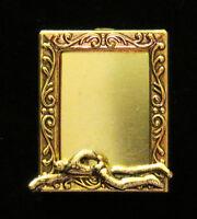 Swimmer Photo Frame Pin 24 Karat Gold Plate Swim Dive