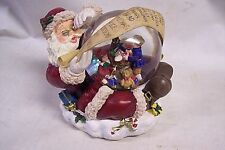 Santa Checking His List Water Globe Plays Have Yourself A Merry Little Christmas