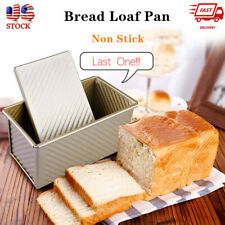 Large Bread Loaf Pan with Lid Non-stick Bread Toast Tool Bake Mold Bakeware New