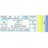 THE ROLLING STONES Full Concert Ticket Stub PHILADELPHIA PA 9/22/89 STEEL WHEELS