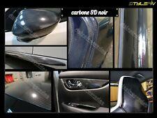 Film Vinyle covering CARBONE 5D brillant noir 152 x200cm Thermoformable adhésif