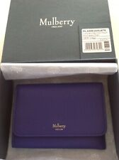Mulberry Indigo Blue Continental Key Coin Pouch Small Classic Grain Leather