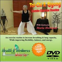 Tai-Chi & Qigong Combo DVD, Increase Breathing, & Flexibility, Great for Seniors