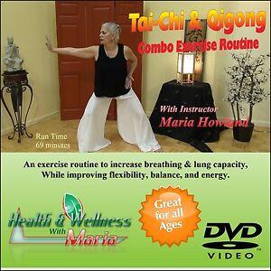 Tai-Chi & Qigong Combo DVD, Increase Breathing, & Flexibility, Great for Seniors