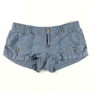 American Eagle Outfitters Womens Linen Blend Shorts Size 8 Blue Short Shorts