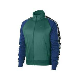 Nike Men's NSW Sportswear HBR Park Statement Track Jacket Green Blue AR3139-340